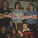 Hinten Wally Kruso, Billy Flynn und Carsten Jacobs; vorne Peter Riep und Roland Peters.