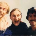 Wally Kruso (von links), Komiker Otto Waalkes und Billy Flynn bei einem Besuch in Los Angeles.